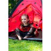 Cort cu tunel pentru copii Playto Ladybug Rosu