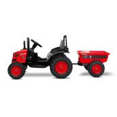 Tractor electric cu remorca si telecomanda Toyz HECTOR 12V Rosu