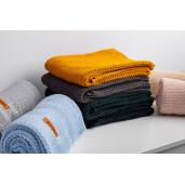 Paturica de bumbac tricotata Sensillo 100x80 cm Verde Inchis