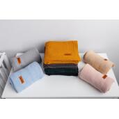 Paturica de bumbac tricotata Sensillo 100x80 cm Albastra