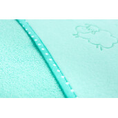Prosop cu gluga Sensillo SHEEP 80x80 cm Turquoise