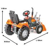 Excavator cu pedale si cupa Pilsan SUPER Portocaliu