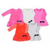 Set bluza cu rochita de bumbac 100% Koala Baby KOKARDKA 3881 marimea 62 gri