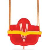 Leagan de interior/exterior Pilsan JUMBO SWING cu lant Rosu