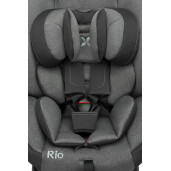 Scaun auto rotativ Caretero RIO i-Size (40-105 cm) 0-22 Kg Gri