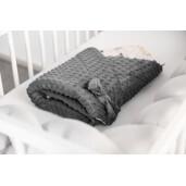 Paturica nou-nascut Sensillo Minky Wrap Forest Dark Grey 80x80 cm