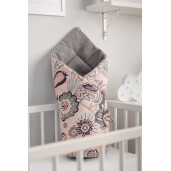 Paturica nou-nascut Sensillo Wafel Wrap Indie Grafit 75x75 cm