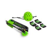 Trotineta scooter cu casca, cotiere si genunchiere Toyz TAURO Verde