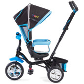 Tricicleta cu maner si scaun reversibil Toyz TIMMY Blue